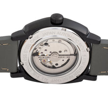 Load image into Gallery viewer, Reign Napoleon Automatic Semi-Skeleton Leather-Band Watch - Black/Grey - REIRN5804