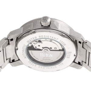 Reign Helios Automatic Bracelet Watch w/Day/Date - Silver/Black - REIRN5702