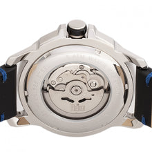 Load image into Gallery viewer, Reign Monarch Automatic Domed Leather-Band Watch - Silver/Black - REIRN5201