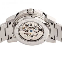 Load image into Gallery viewer, Reign Philippe Automatic Skeleton Bracelet Watch - Silver/Black - REIRN4602