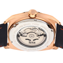 Load image into Gallery viewer, Reign Astro Semi-Skeleton Leather-Band Watch - Rose Gold/Navy - REIRN5504