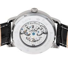 Load image into Gallery viewer, Reign Belfour Automatic Skeleton Leather-Band Watch - Silver - REIRN3601