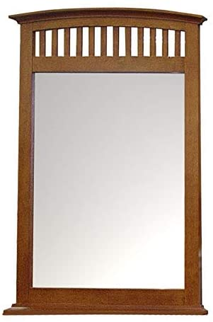 Santa Fe Solid Wood Construction Framed Dresser Mirror with Stained Wood Finish