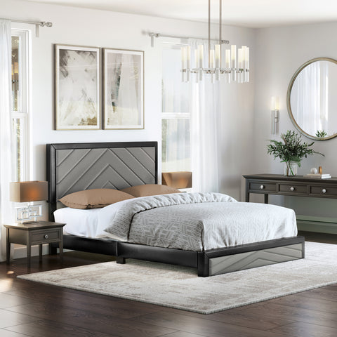 Arden Faux Leather Platform Bed Frame