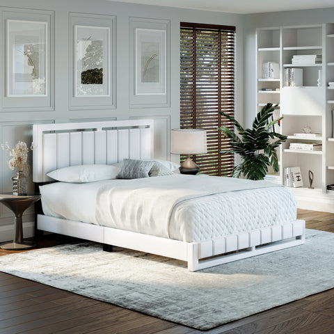 Beaumont Faux Leather Platform Bed Frame