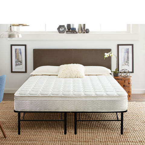"8"" Innerflex Innerspring Plush Top Mattress & 14"" Metal Platform Frame"