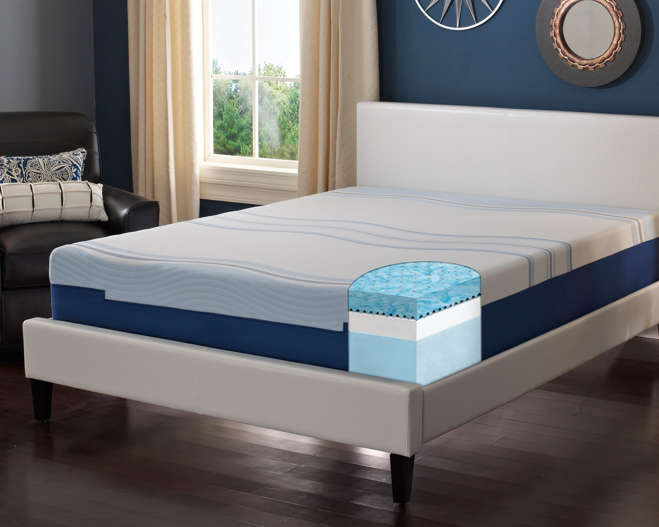 "Revitalize 1008 8"" Gel Infused Engineered Latex Mattress"