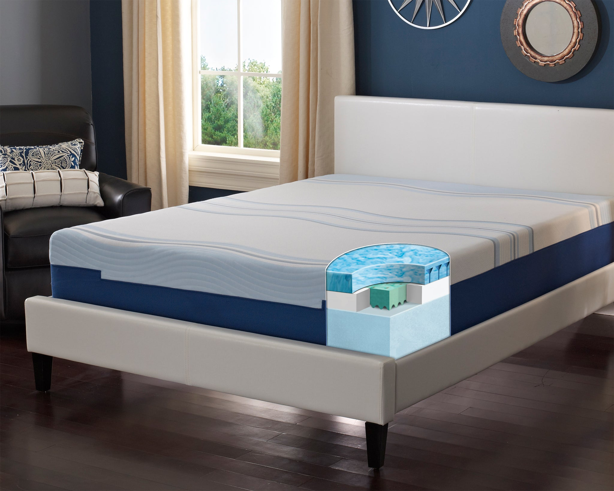 "Revitalize 1012 12"" Gel Infused Engineered Latex Mattress"