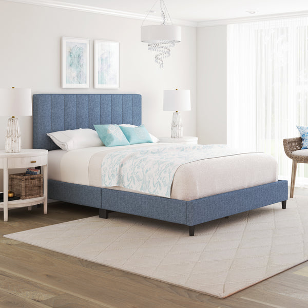 Leah Upholstered Platform Bed