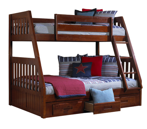 Twin over Full Merlot Bunk Bed