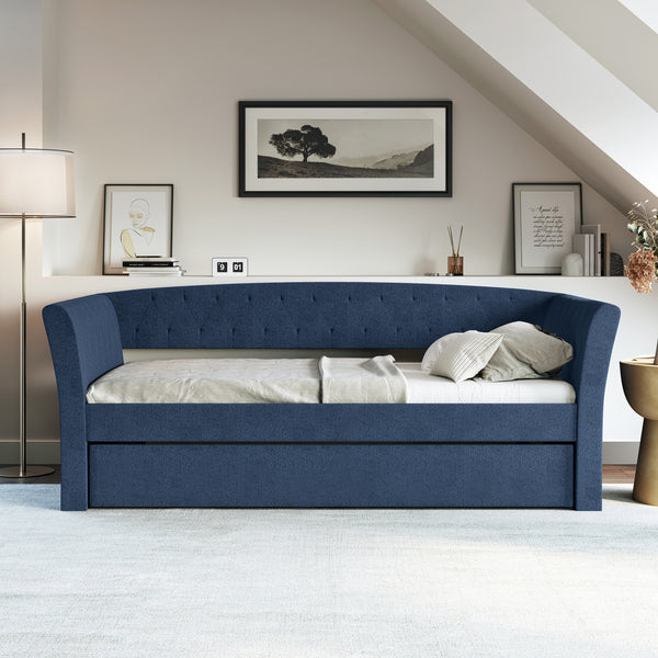 New Castle Linen / St Ives Faux Leather / Kendal Velour - Trundle Bed