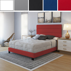 Piedmont Faux Leather Upholstered Platform Bed