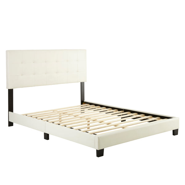 Roma Faux Leather Upholstered Platform Bed