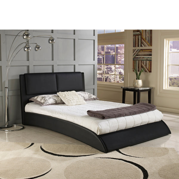 Sonova Faux Leather Upholstered Platform Bed