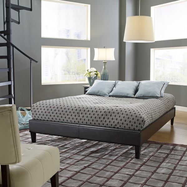 Suburban Upholstered Platform Bed