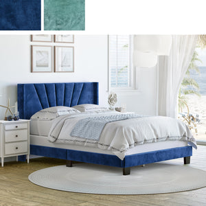 Valencia Velour Upholstered Bed