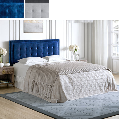 Zoe Velour Upholstered Headboard