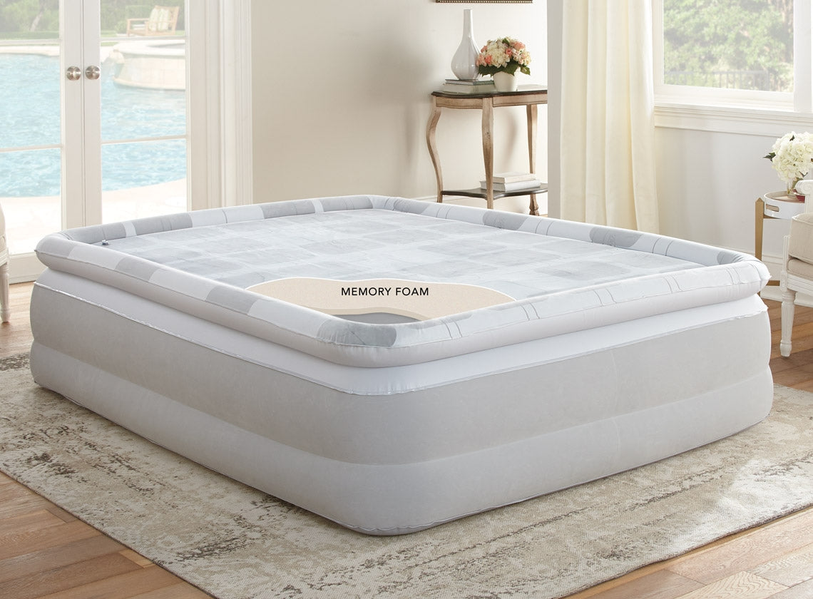 Simmons® Beautyrest Platinum® Memory Aire Queen Size Air Mattress with Memory Foam