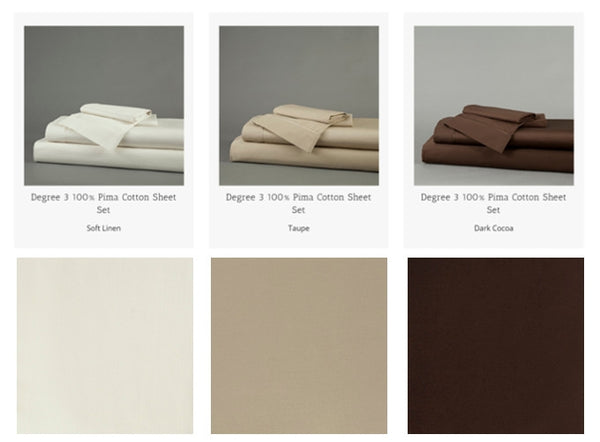 100% Pima Cotton Sheet Set by Dreamfit