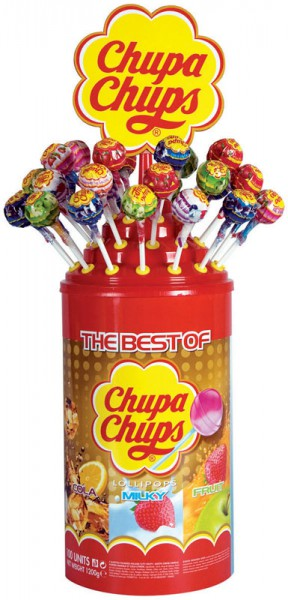 Chupa Chups The Best of Lolly Lutscher 100 Stück