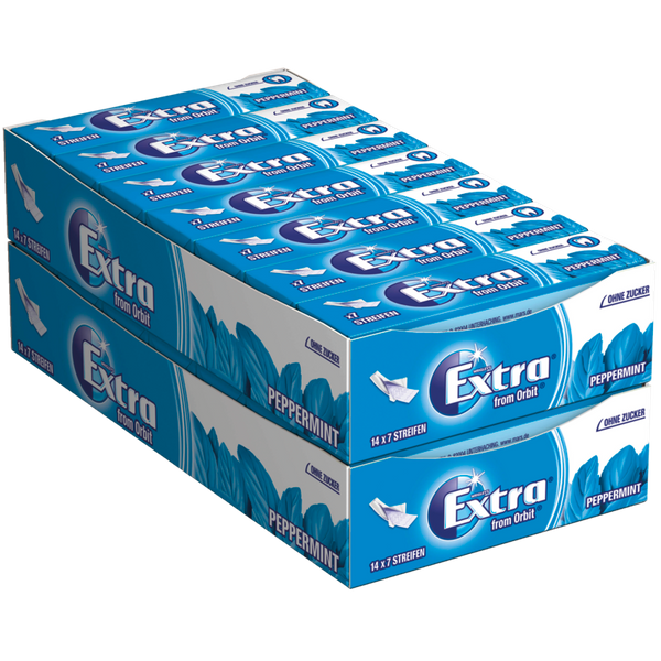 Wrigleys Extra from Orbit Peppermint Kaugummi zuckerfrei 28 Packungen