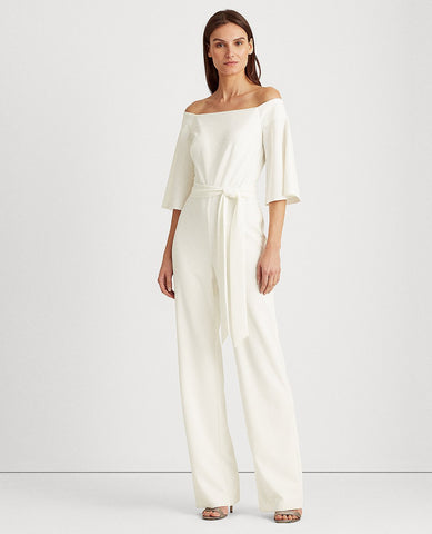 Off-The-Shoulder Jumpsuit In Cream