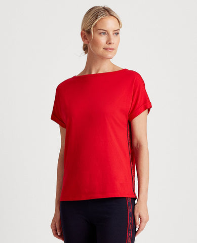 Logo Cotton Jersey Tee In Red