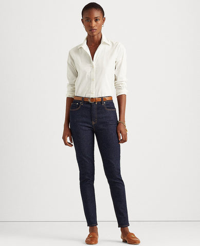 Petite High-Rise Skinny Ankle Jean In Rinse Wash