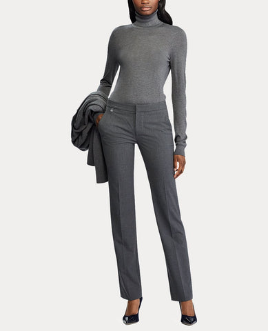 Stretch Straight-Leg Pant In Grey