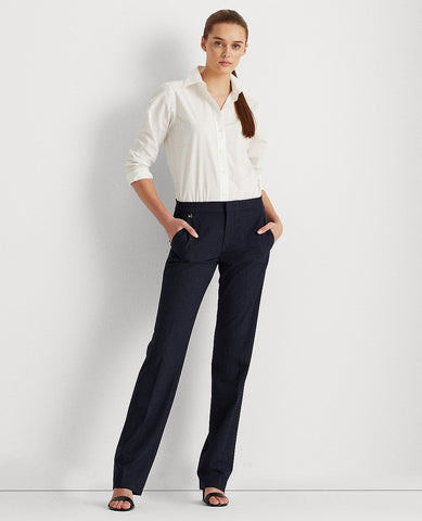 Stretch Straight-Leg Pant In Navy/Blue