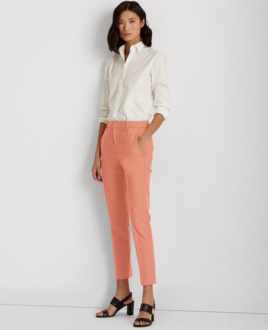 Stretch Cotton-Blend Pant In Pink