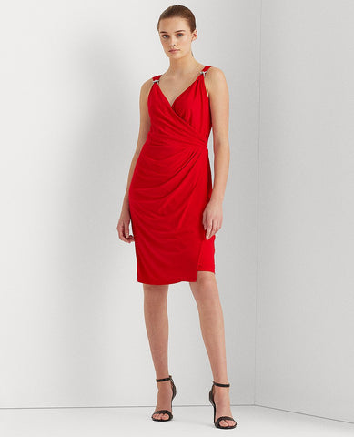 Jersey Sleeveless Dress In Red