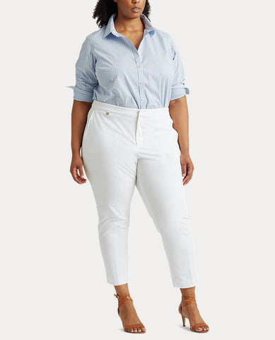 Woman Cotton Twill Skinny Pant In White