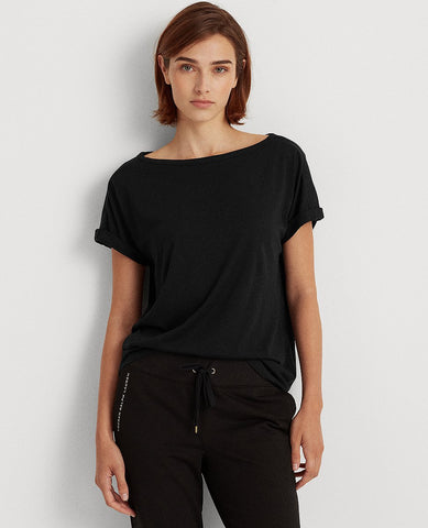 Cotton Jersey Tee In Black