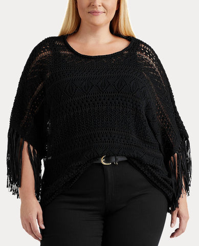 Woman Pointelle Boatneck Top In Black