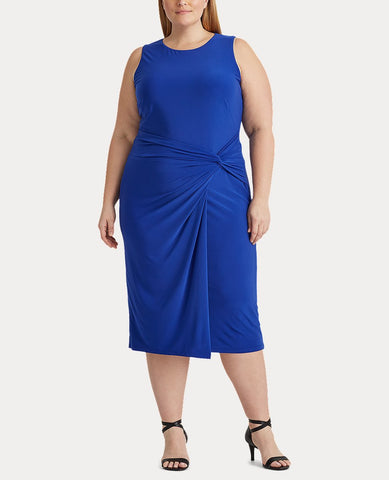 Woman Jersey Sleeveless Dress In Royal Blue