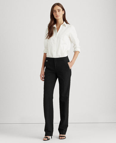Petite Stretch Straight-Leg Pant In Black