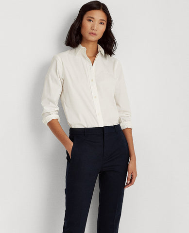 Petite Stretch-Cotton-Blend Pant In Navy