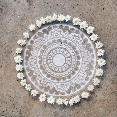 Happiness Mandala Stencil