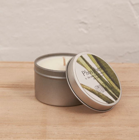 Inartisan Hand Poured Soy Candle in Travel Tin-Silver