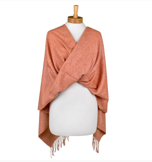 Wool blend Scarf - Plain with tassels