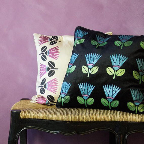 African Protea Flower Furniture Stencil-Royal Design Studio