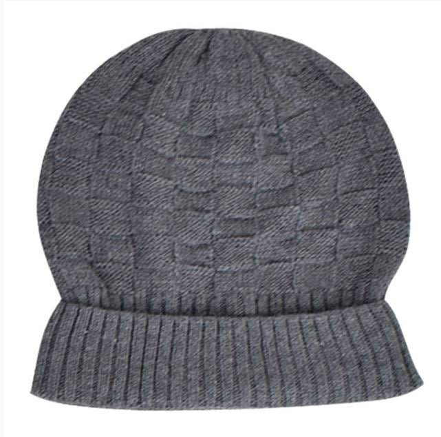 Wool blend Knitted Beanie - Weave Pattern