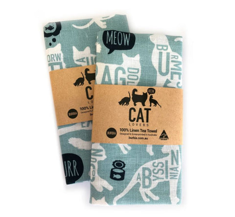 Burbia Cat Lovers Tea Towel