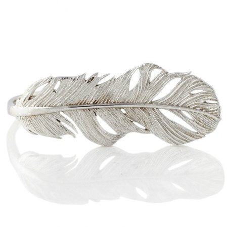 Collect Bowerbird Feather Signature Ring - Silver
