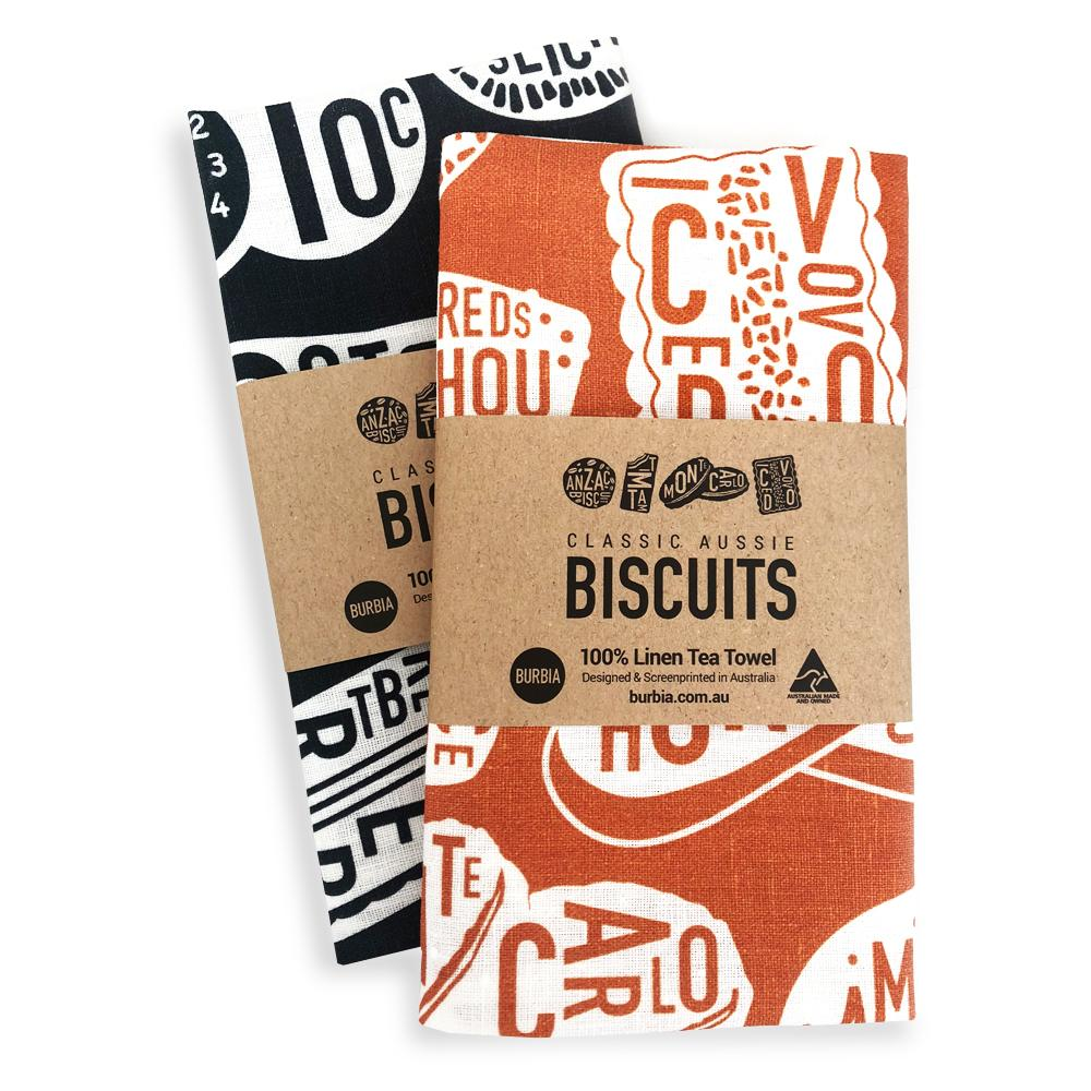Burbia Biscuits Tea towel - Two colours