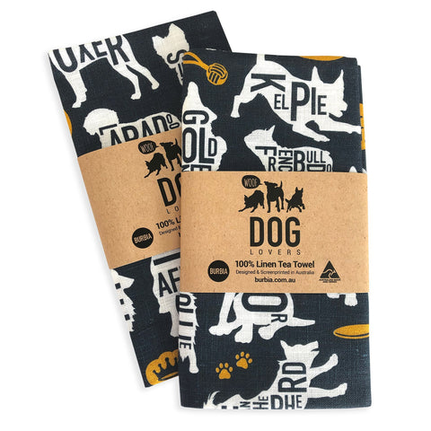 Burbia Dog Lovers Tea Towel