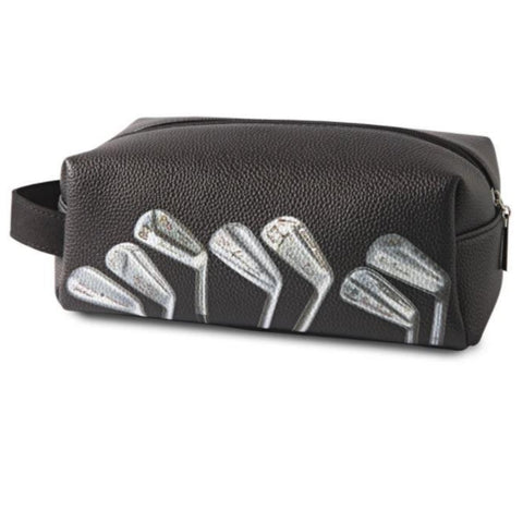 Sporting Nation Men's Wash Bag - Vintage Signature Golf Clubs Wash Bag Black