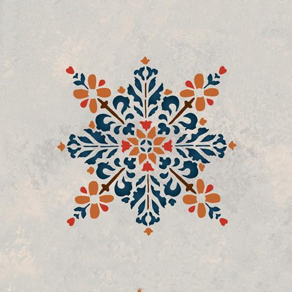 Embroidered Star Moroccan Stencil