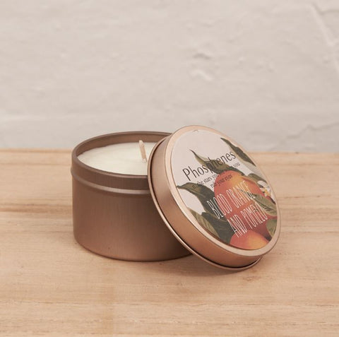 Inartisan Hand Poured Soy Candle in Travel Tin-Brass